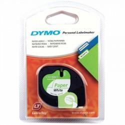 DYMO LetraTag Kağıt Şerit Etiket ( 12mm x 4 mt ) Beyaz ( 59421)